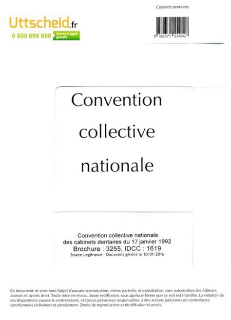 Convention Cabinet Dentaire by Convention Collective Nationale Cabinet Dentaire 2016