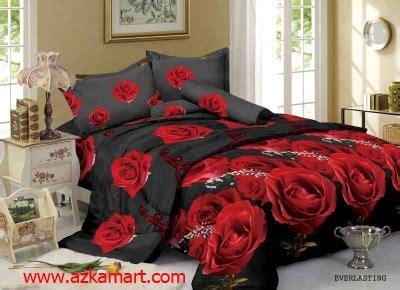 Sprei Merek Kintakun Motif Bunga Warna Merah sprei dan bedcover murah kintakun luxury everlasting