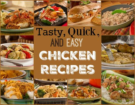 14 tasty quick easy chicken recipes mrfood com