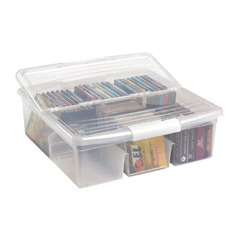cd dvd storage boxes for storage not for display - Cd Storage Container