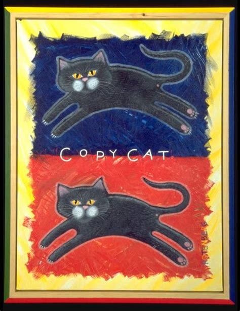 copy cat painting folk quot cat quot painting reproductions for sale on