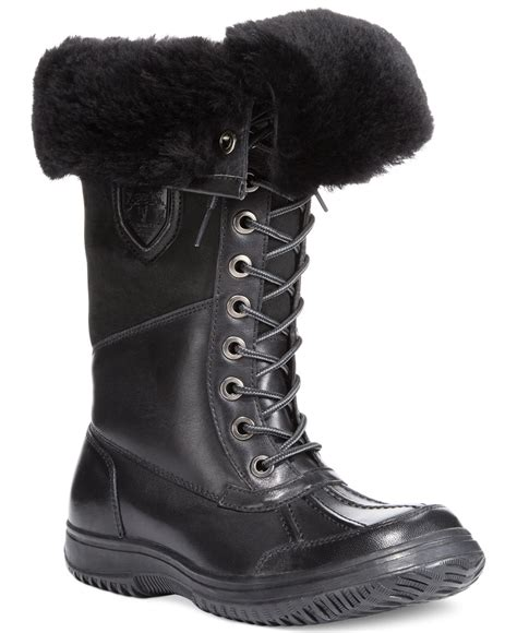 cold weather work boots work boots for the cold lyst rudsak buena cold weather boots in black