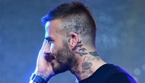 david beckham neck tattoo neck david beckham design david beckham neck
