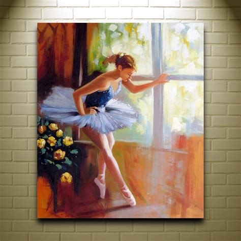 modern wall collage hot girls wallpaper handmade women oil painting on canvas ballet girl arts and