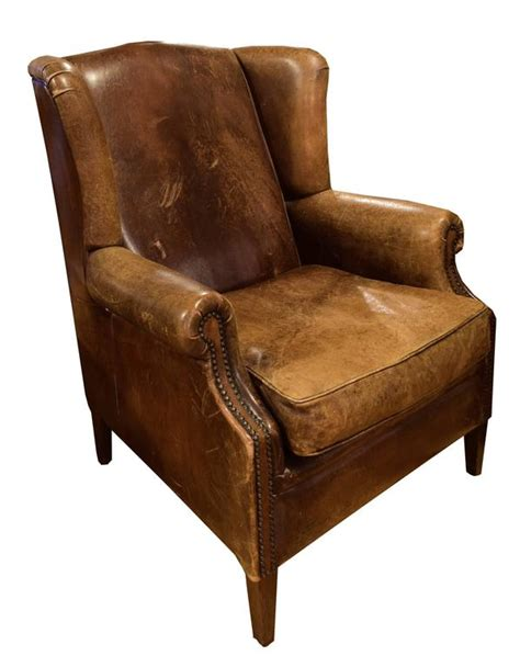 leather studded wingback chair leather wingback chair from italy for sale at 1stdibs