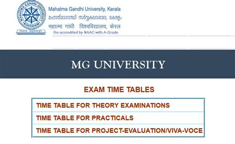 Mg Mba Results 2017 by Mg Time Table 2018 Studykerala