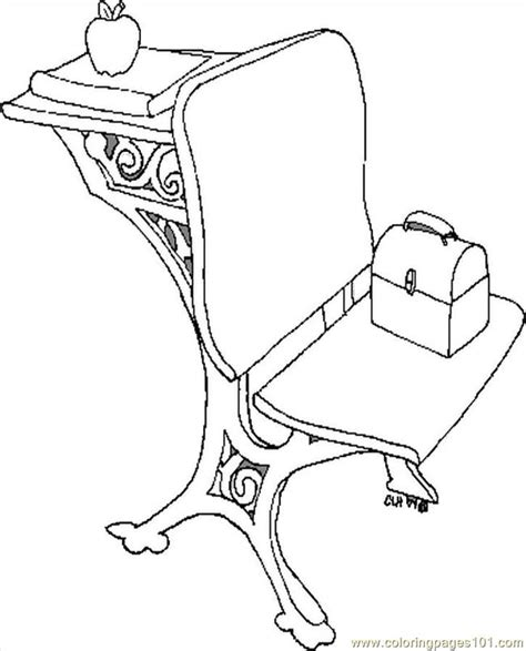 school chair coloring page school desk coloring pages