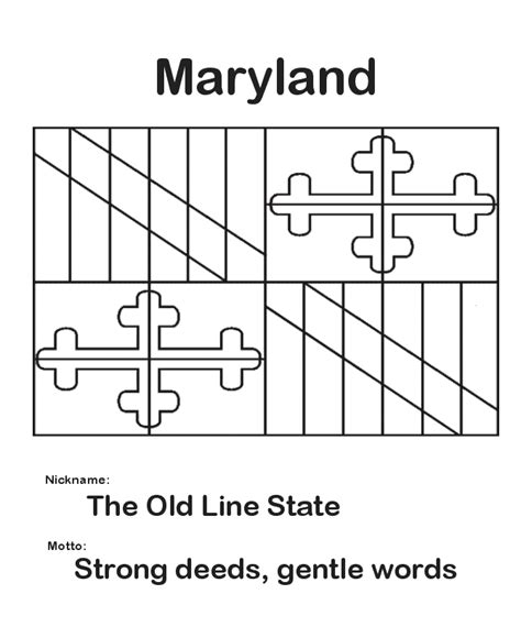 Maryland Flag Coloring Page maryland state flag coloring page diy for home
