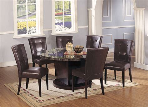 7 pc acme vienna dining set acme danville 7 pc marble top dining table set in black by dining rooms outlet