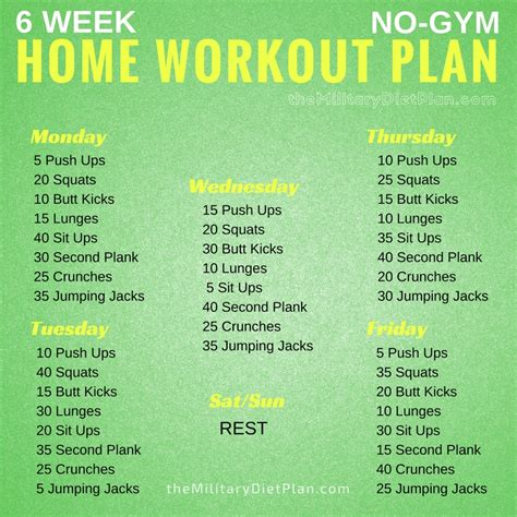 6 week home workout plan workout plan at home sport fatare