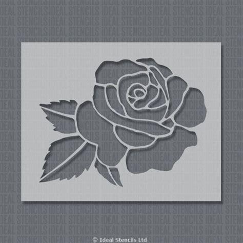 large rose stencil ideal stencils