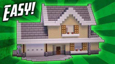 minecraft suburban house tutorial minecraft how to build a suburban house tutorial youtube