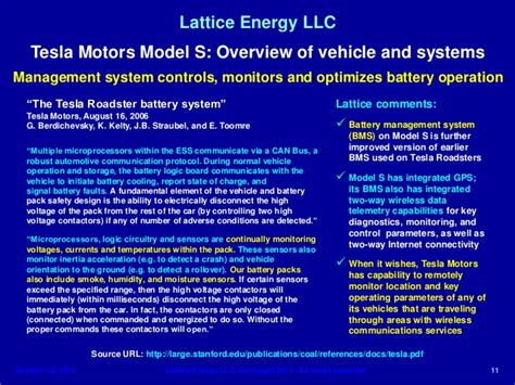 Tesla Motors Company Overview Lattice Energy Llc Technical Discussion Oct 1 Tesla