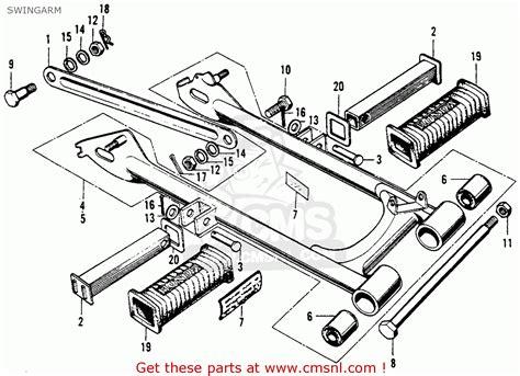 manual swing cl honda cl90 scrambler 1967 usa swingarm schematic partsfiche