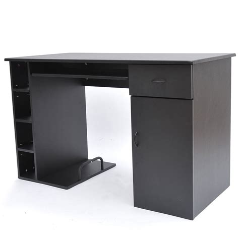 Small Desk Black Homcom Small Home Office Computer Desk Black