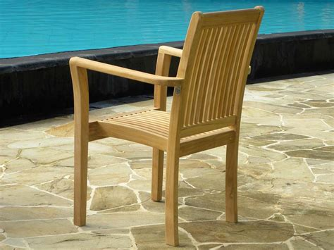 Teak Garden Chairs Teak Stacking Garden Chair Grenada