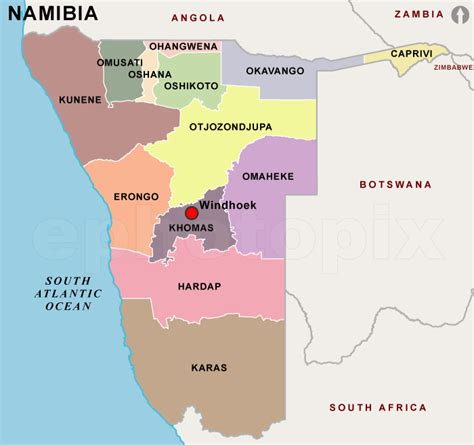 political map of namibia herero tribe of africa home