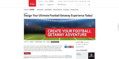 Verizon Nfl Sweepstakes - verizon wireless football getaway sweepstakes