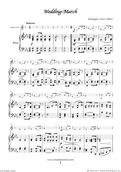 Wedding Songs List Piano by Wedding Sheet For Trumpet And Piano Organ