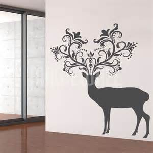 Wildlife Wall Stickers Wall Decals Caribou Deer Patterned Horns Animal