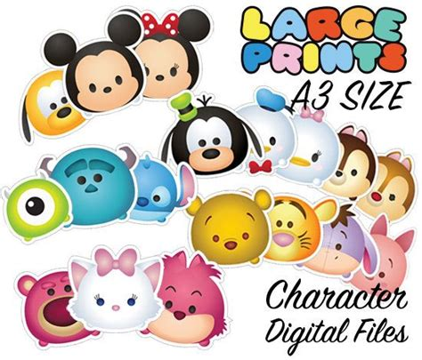 Mickey Mouse Minnie Mouse W3173 A3 2017 Print 3d S the 25 best ideas about tsum tsum characters on