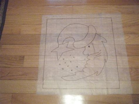 free rug hooking patterns primitive santa rug hooking pattern on gridded trace fabric