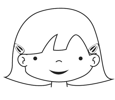 imagenes de animales felices dibujo de la cara de una ni 241 a para colorear con los ni 241 os