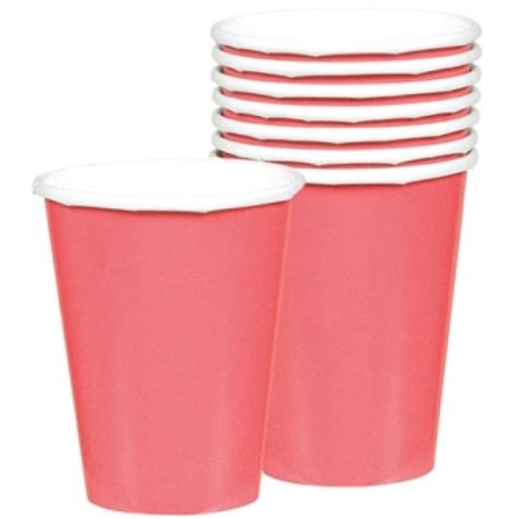 pale pink paper party cups 9oz