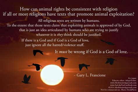 how can animal rights be consistent with religion if