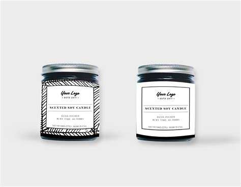 Candle Label Templates Top Home Information Candle Label Templates