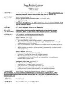 Sle Resume For College Resident Assistant Resident Assistant Resume Sales Assistant Lewesmr