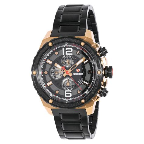 Harga Jam Tangan Merk Expedition jual jam tangan expedition e6732 black rosegold