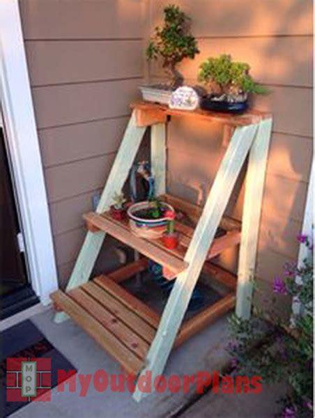 outdoor plant stand myoutdoorplans  woodworking