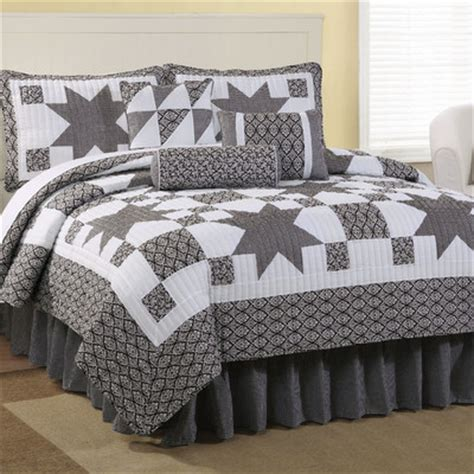 american traditions black country star king quilt set queen  king size bedroom sets