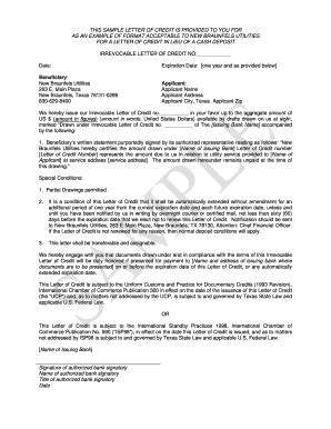 irrevocable letter of credit template irrevocable letter of credit form docoments ojazlink