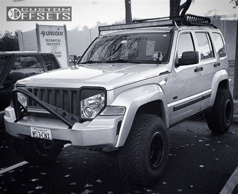 silver jeep liberty with black rims lifted jeep liberty with rims wheel offset 2009 jeep