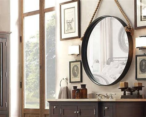 how to hang bathroom mirror using rope to hang picture diy rope mirrors quot small