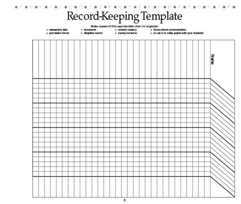 record keeping templates search results for november reading log template