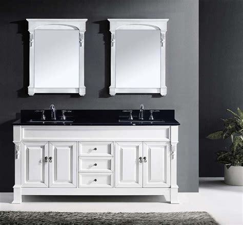 Bathroom With White Vanity by 72 Quot Huntshire Bathroom Vanity In White With Black