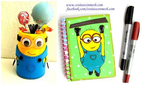 imagenes de minions regreso a clases como decorar los cuadernos de ninos