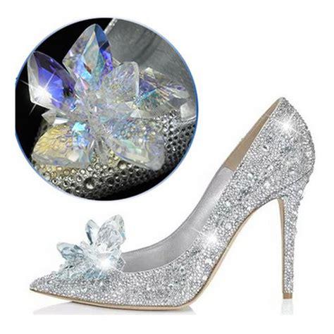 womens glass slippers hb wedding shoes brand cinderella glass slipper