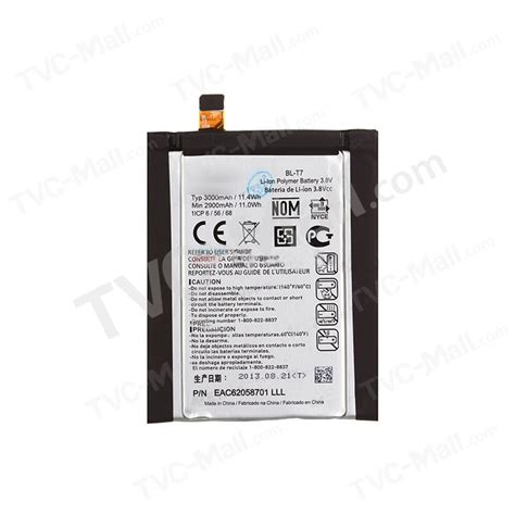 Baterai Lg G2 D800 D802 Bl T7 for lg g2 d800 d802 oem 3000mah battery replacement bl t7