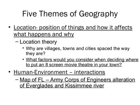 5 themes of geography florida ch01 introduction to human geography