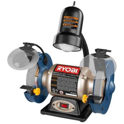 Ryobi 6 In Bench Grinder Bgh6110 The Home Depot