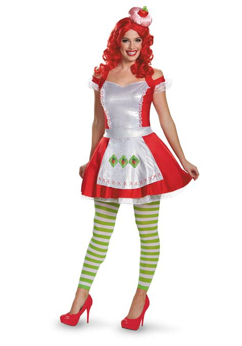costume for adults strawberry shortcake deluxe costume