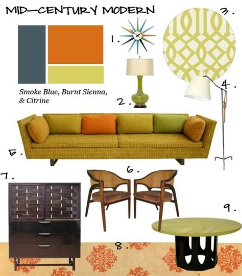 mid century color schemes it s about the lines the colors the shapes mixing wood