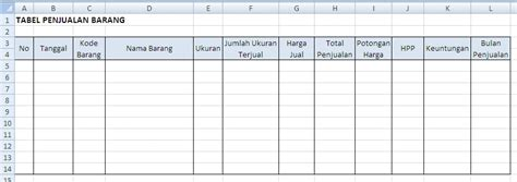 Contoh Surat Pemintaan by Aplikasi Persediaan Barang Dengan Excel Belajar