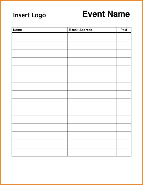 template for a 5 x 7 1 sheet note card event sign up sheet template 189345 png 1287 215 1662