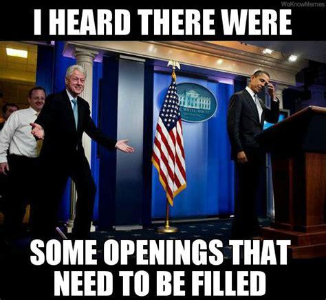 Bill Clinton Obama Meme - inappropriate bill clinton on the government shutdown