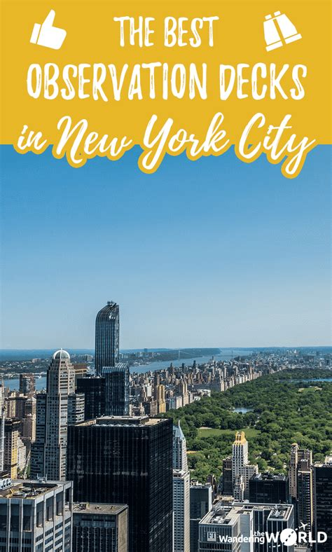 best observation decks nyc the best observation decks in new york city wandering